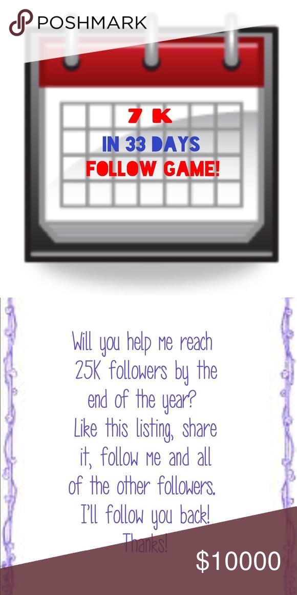 Help me reach 25K followers! Like the listing, share it