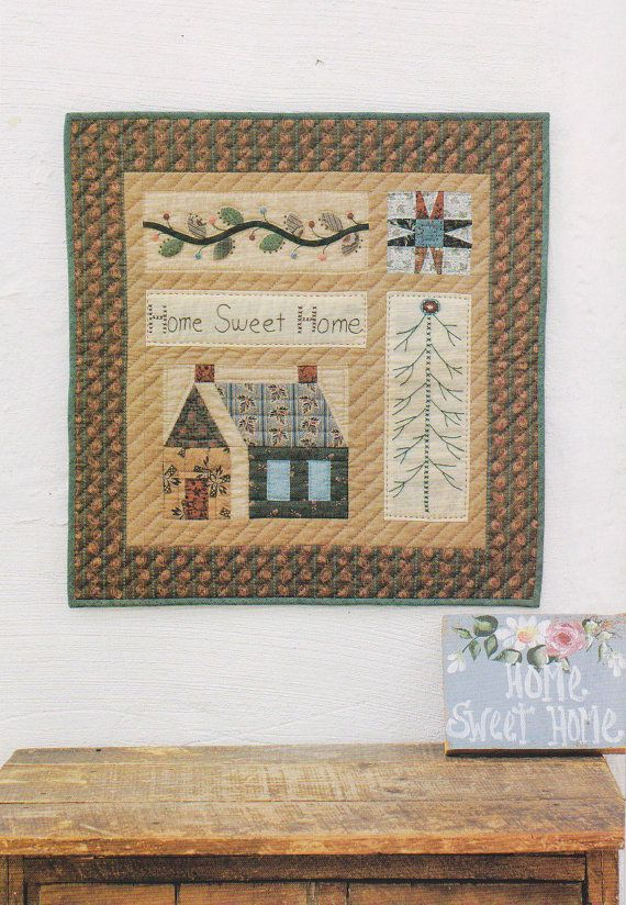 Quilted Wall Hanging home sweet home quilted wall hanging sue pdf patterndickdocker