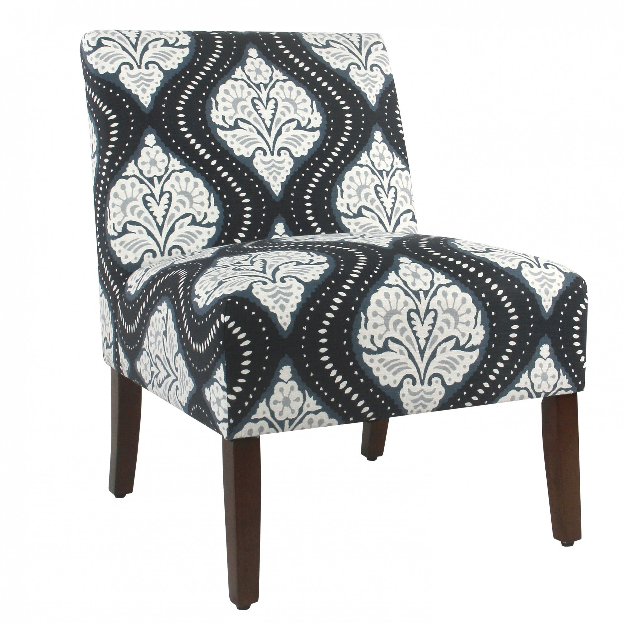 Best Carson Armless Accent Chair Global Navy Armless Accent 400 x 300