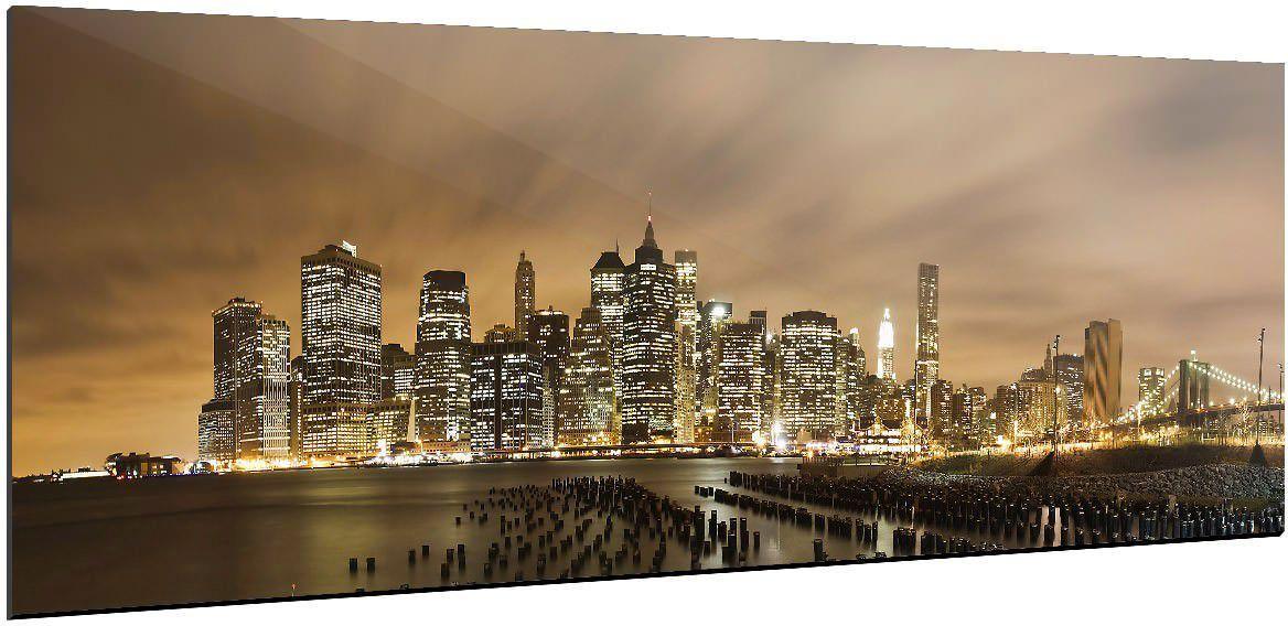 Tableau NEW YORK LA NUIT | ReCollection | Multicolore | Nuit