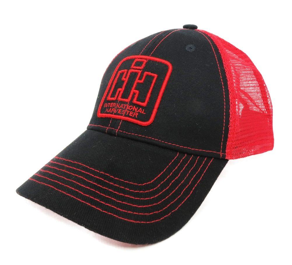 21293910d5b7c Cap Black with Red Mesh back IH Logo red stiching on bill