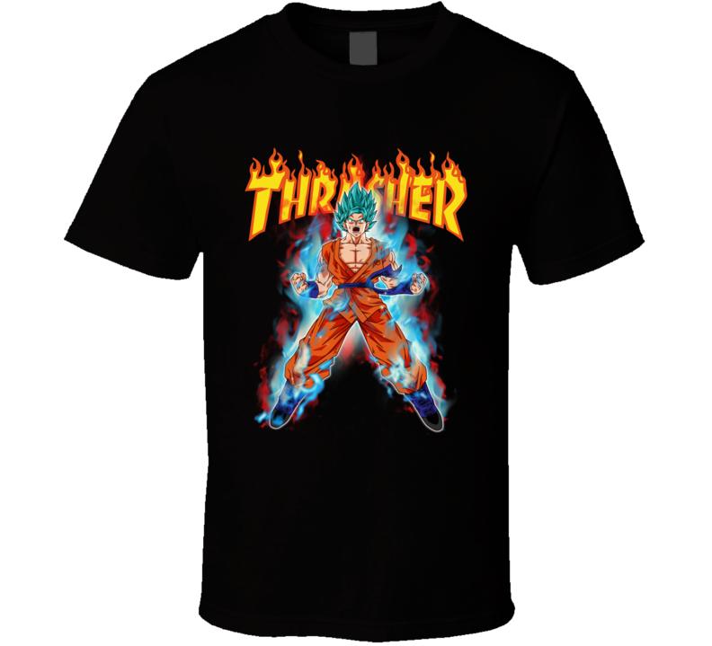 Thrasher Anime Dragon Ball Son Goku Super Saiyan God Blue T Shirt Goku Super Saiyan God Super Saiyan God Goku Super Saiyan