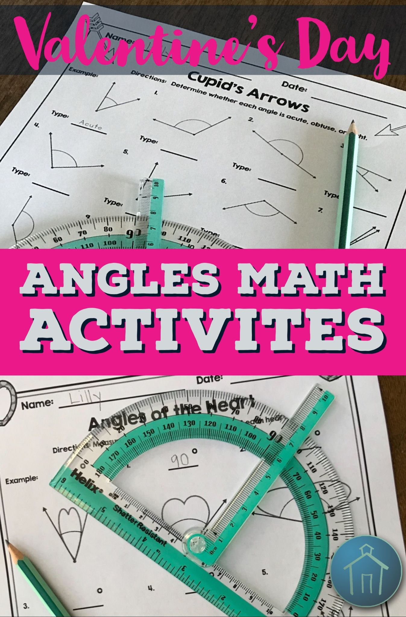 Valentine S Day Math Angles Activities