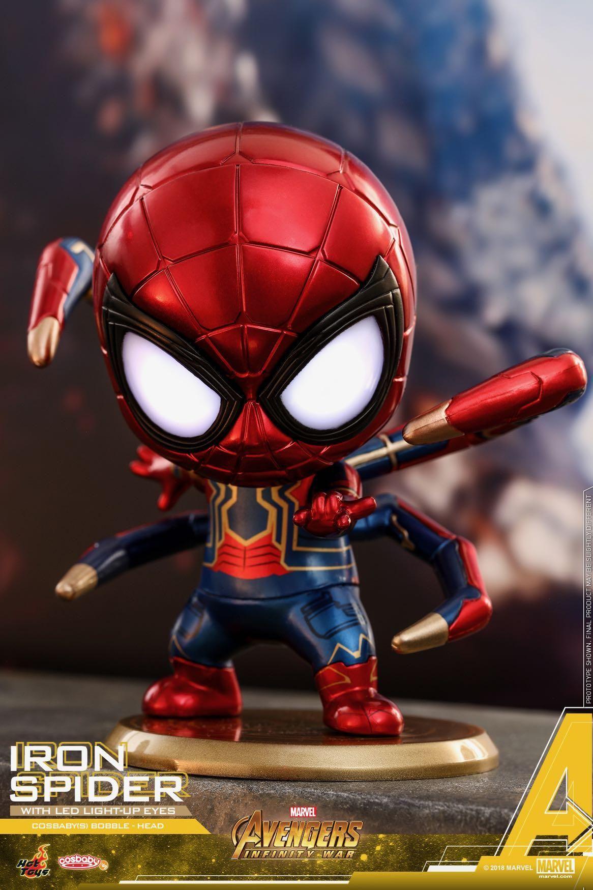 HOT Marvel Spider-Man Upside Down Spiderman Bobble Head action Figure Present