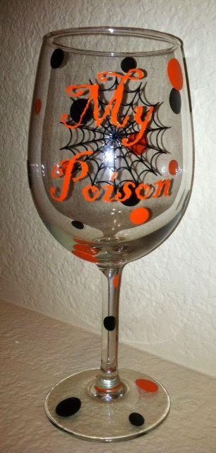Halloween Wine Glass Halloween Wine Glasses Wine Glass