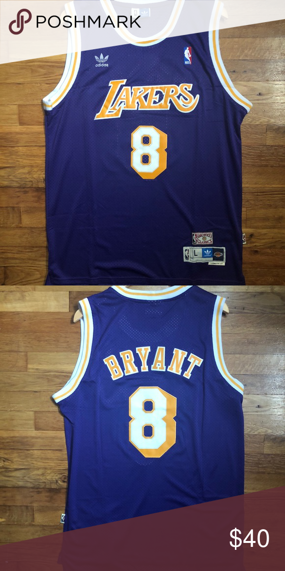 f2e22b4dcf2 Kobe Bryant adidas Lakers Swingman Retro Jersey Brand New • Perfect  Condition Men's Size Large Kobe Bryant #8 Los Angeles Lakers Purple / White  / Gold ...