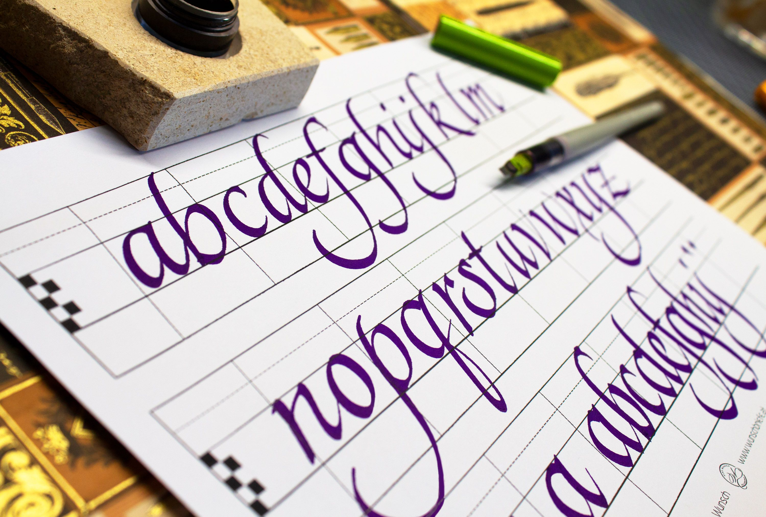 Preparing A Lot Of Worksheets For My Next Calligraphy