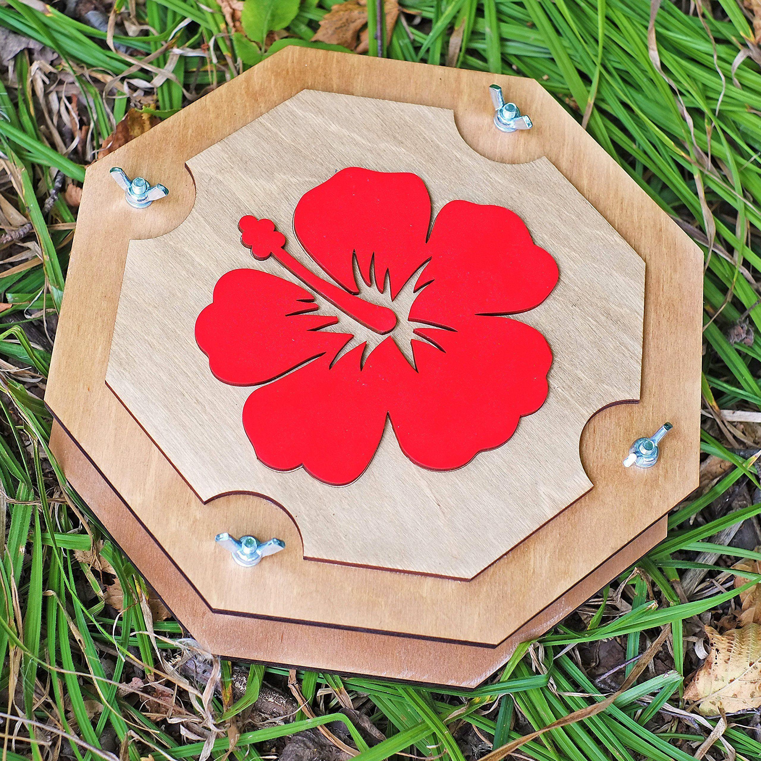 Hawaiian Red Hibiscus Big Botanical Flower Leaf Press For Herbarium