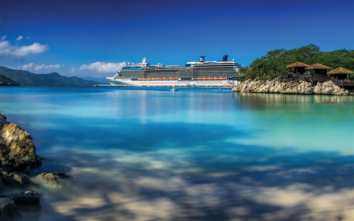Download Wallpapers Celebrity Silhouette 4k Cruise Ship Bay Paradise Celebrity Cruises Summer Vacation Destinations Cruise Vacation Princess Cruise Lines