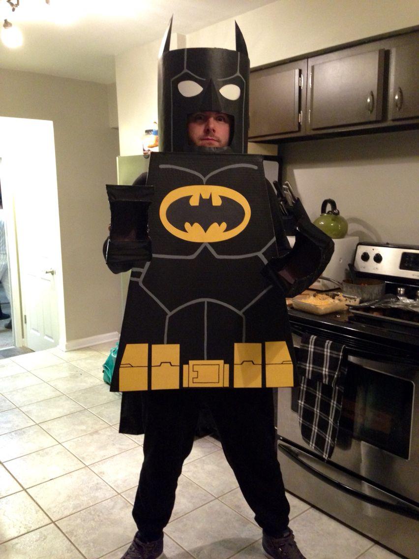 Homemade Lego batman costume lego legos legobatman