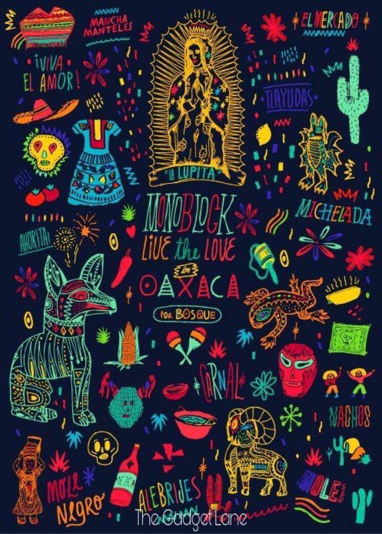 Black Theme Wallpaper Mexican Art Mexican Folk Art Art Inspiration