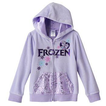 486f7f439ba24 Disney Frozen Elsa & Anna Velour Hoodie by Jumping Beans® - Girls 4 ...