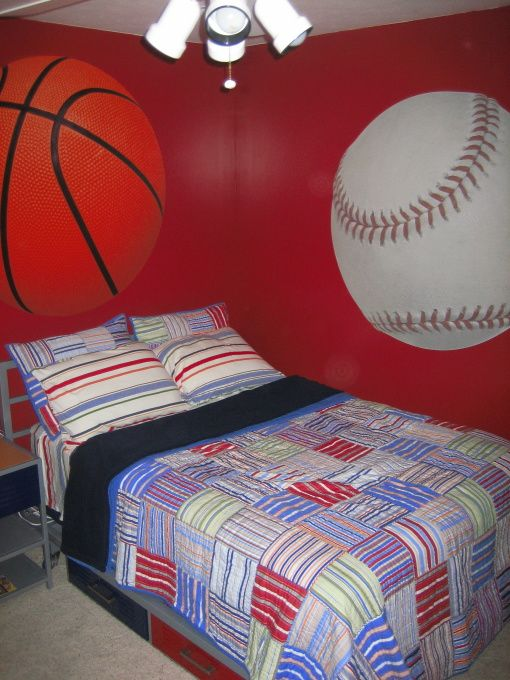 Super cool sports room big boy bedrooms room cool rooms - Cool stuff for boys room ...