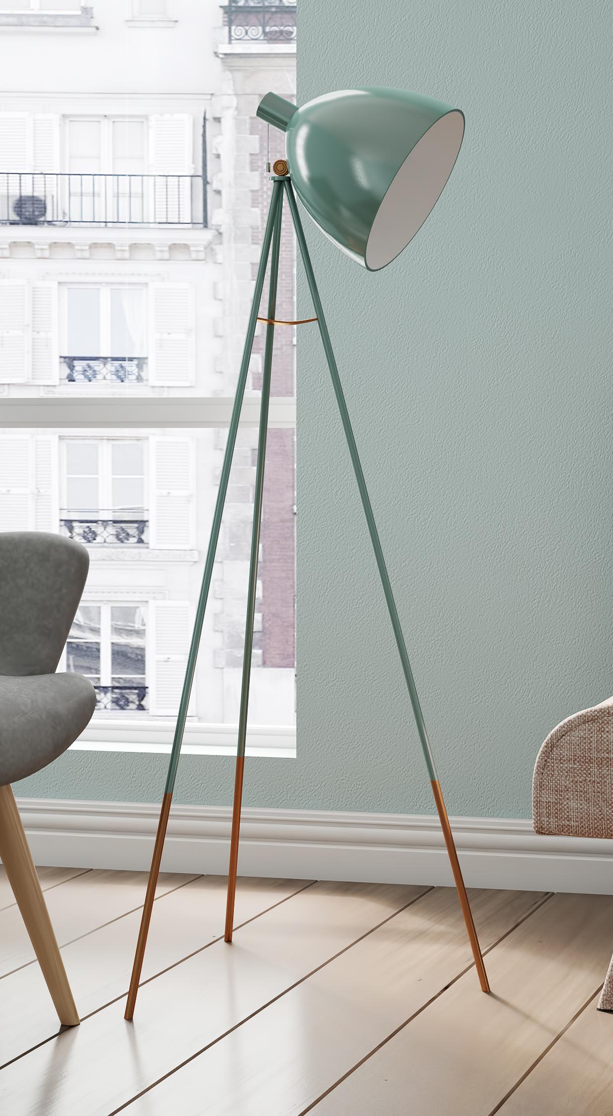 stehleuchte mit einer industriellen note deko lampen liebe pinterest hochwertige m bel. Black Bedroom Furniture Sets. Home Design Ideas
