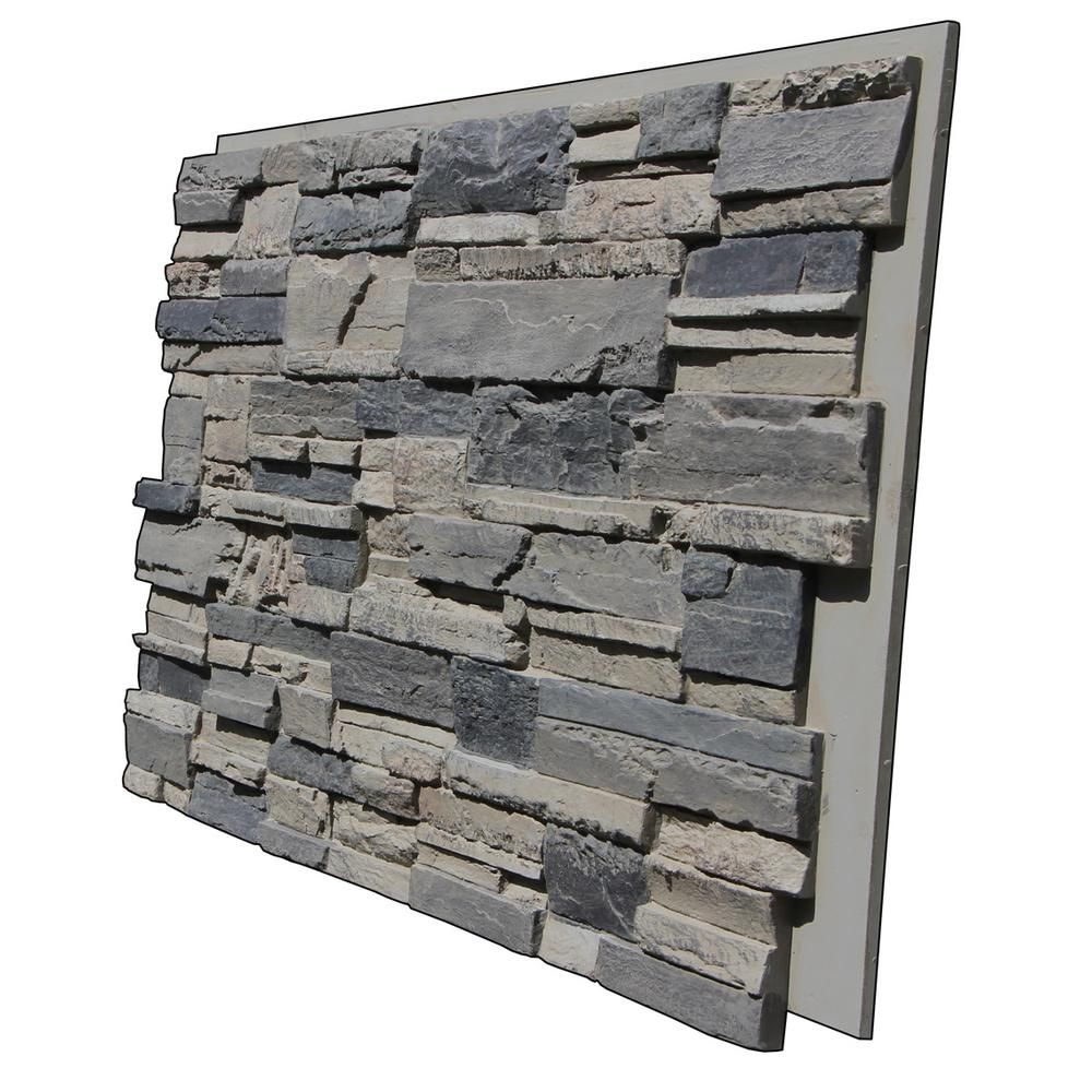 Tritan Bp Earth Valley Faux Stone 48 3 4 In X 24 3 4 In Gray Fox Class A Fire Rated Urethane Interlocking Panel Ev 4824 Gfx The Home Depot Faux Stone Stone Siding Panels Faux Stone Siding