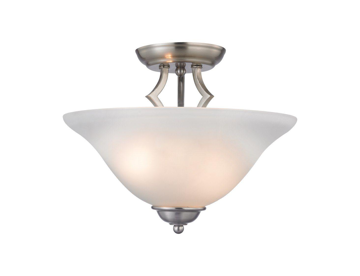 Cornerstone Lighting Kingston Brushed Nickel Two Bulb Semi Flush Mount  Light | 1402SF_20