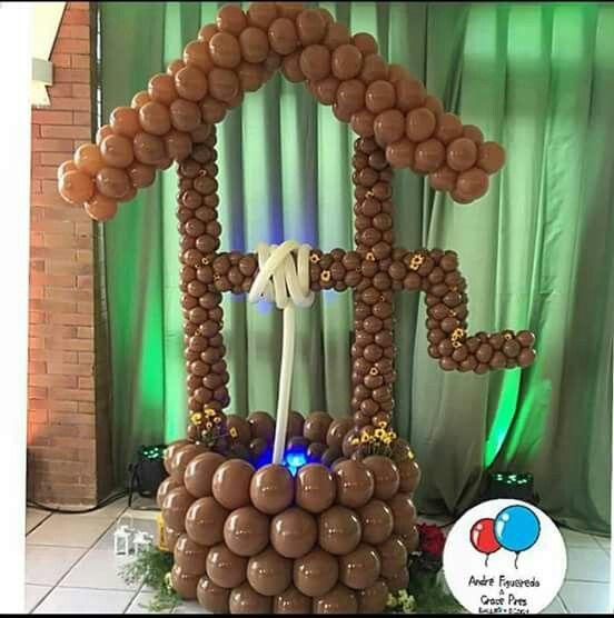 Pin de feh vieira en decoração com balões Pinterest Globo