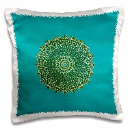 3dRose Aladfar Mandala, Pillow Case, 16 by 16-inch