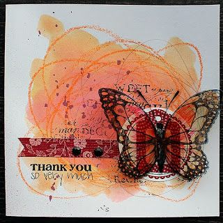 Thank you so very much by Riikka Kovasin for Craft Stamper