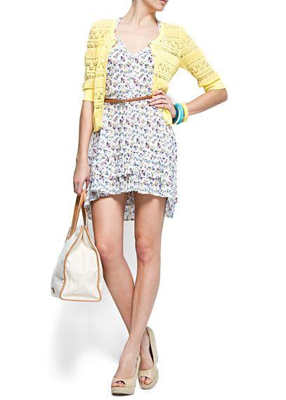 MANGO - ARTIKEL - Kleider - Florales Rüschenkleid