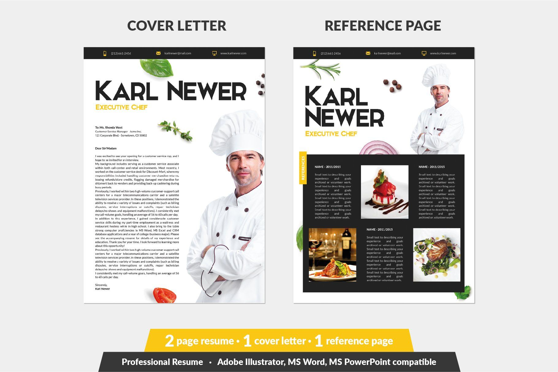 Executive Chef Resume Template Chef Resume Resume Template Unique Resume Template