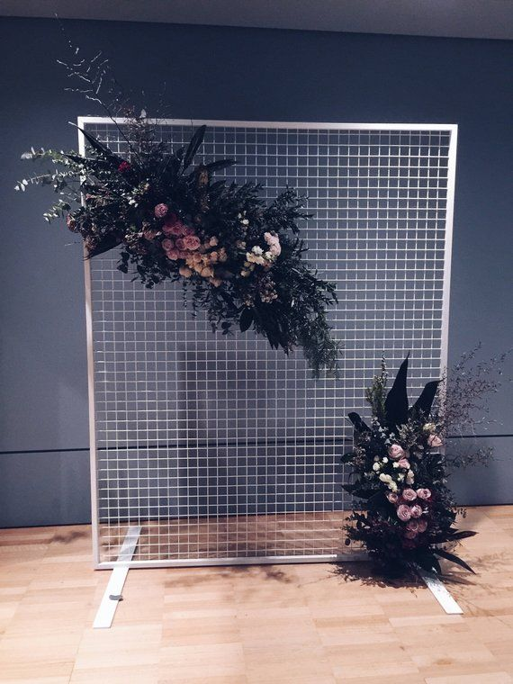 Mesh Wire Wedding Backdrop Screen. Floral Mesh Display Screen For MELBOURNE HIRE ONLY. Not for sale. #displayscreen