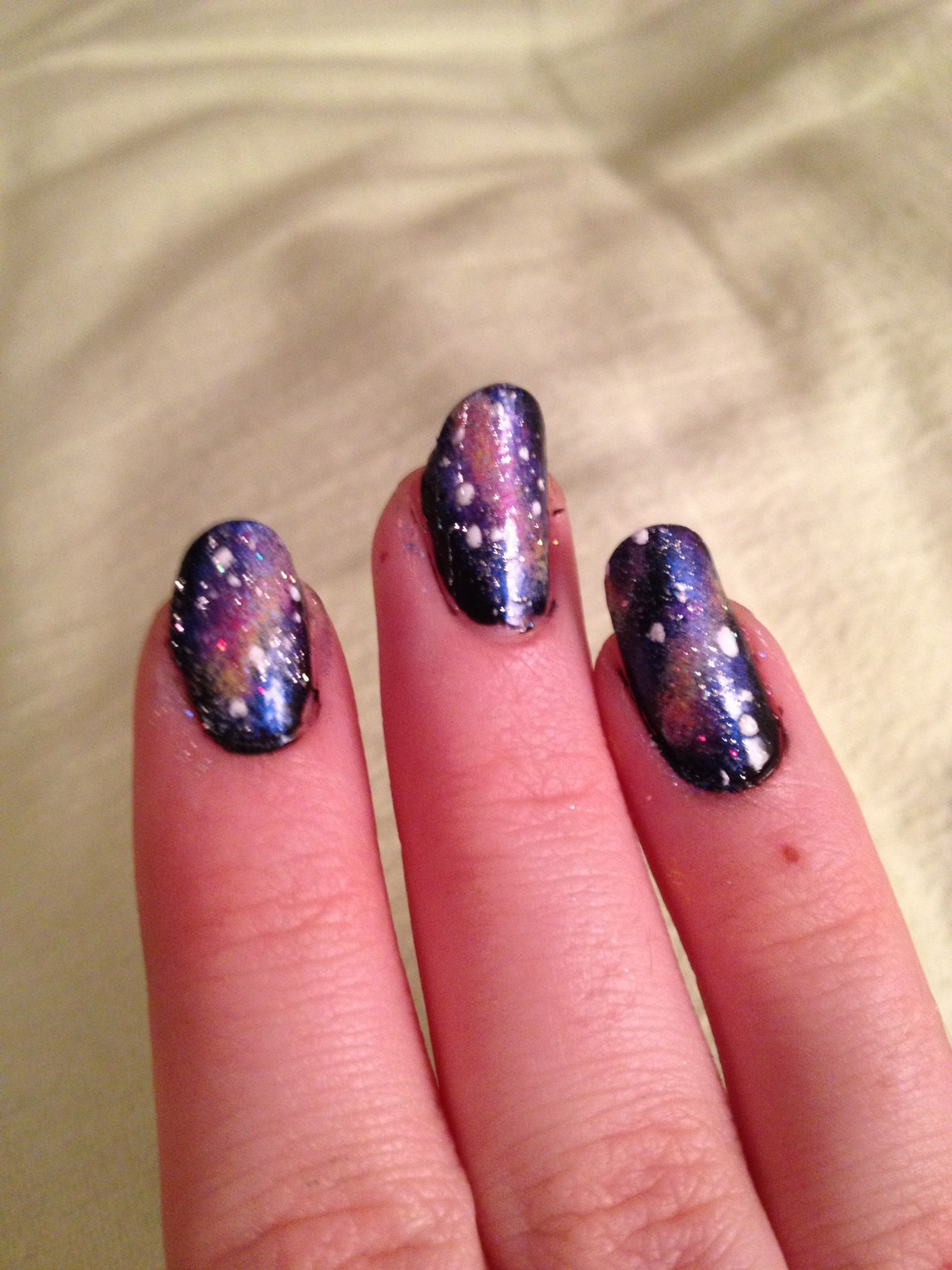 How to Create Galaxy Nails