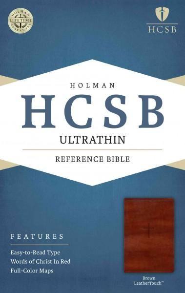 Holy Bible: Holman Christian Standard Bible,, Leathertouch, Ultrathin Reference Bible