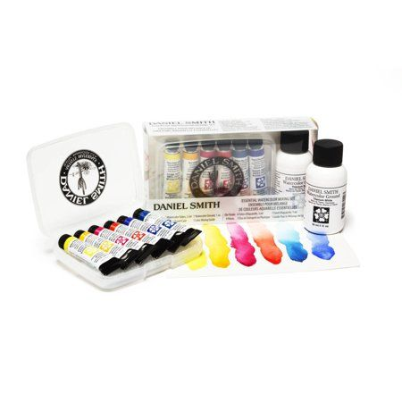 This Extra-Fine Watercolor set features colors that have outstanding color strength, extremely vibrant colors and excellent brushing properties. These colors were chosen because of their ability to mix together without creating mud. Colors include hansa yellow light, new gamboge, quinacridone rose, pyrrole scarlet, pthalo blue green shade and French ultramarine.