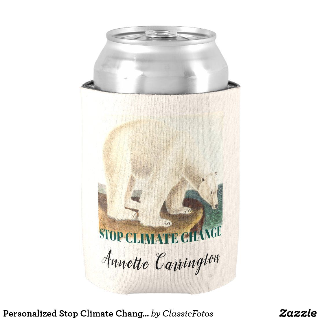 Personalized Stop Climate Change Arctic Polar Bear Can