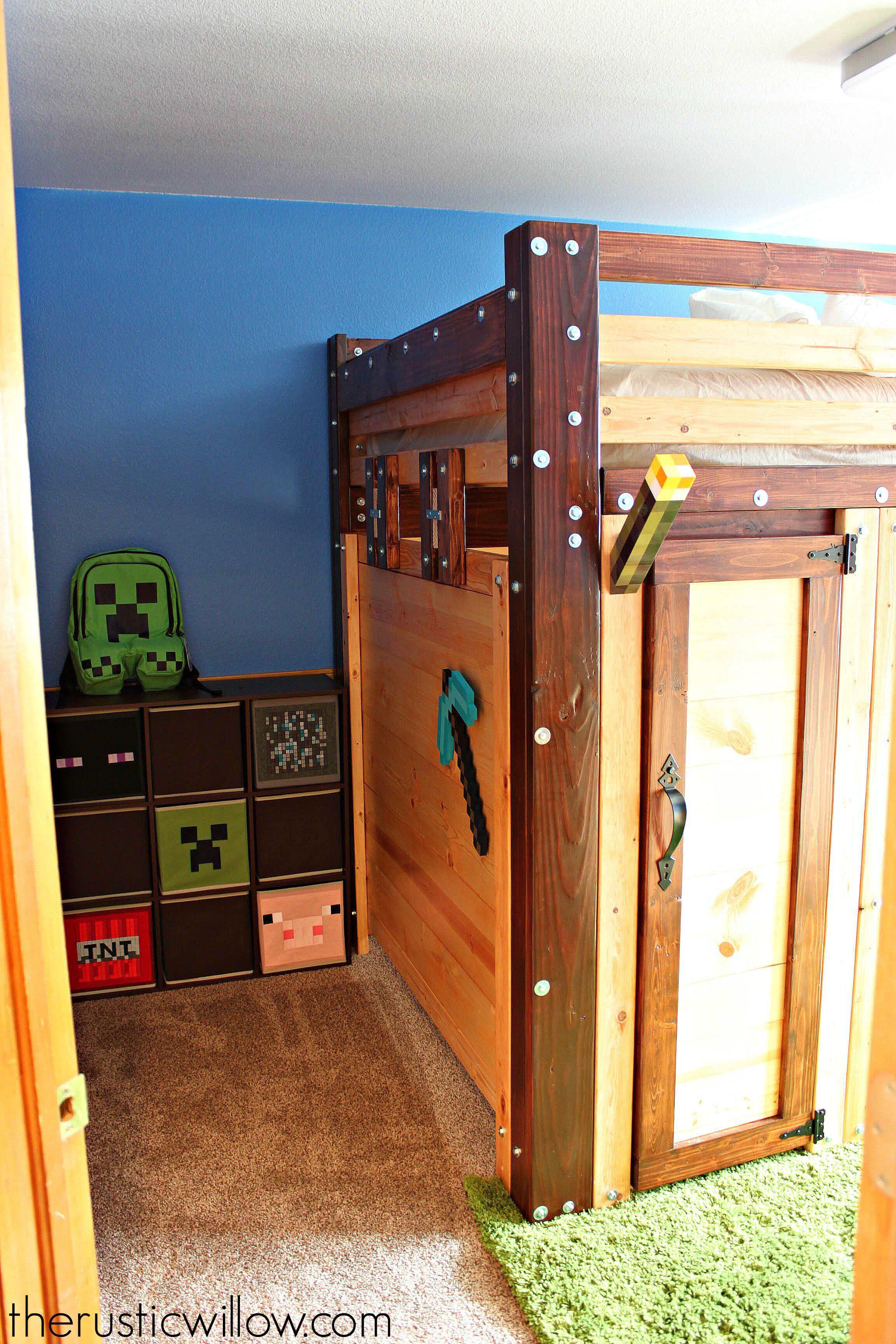 DIY Fort Bed (Minecraft Bed Minecraft room, Minecraft