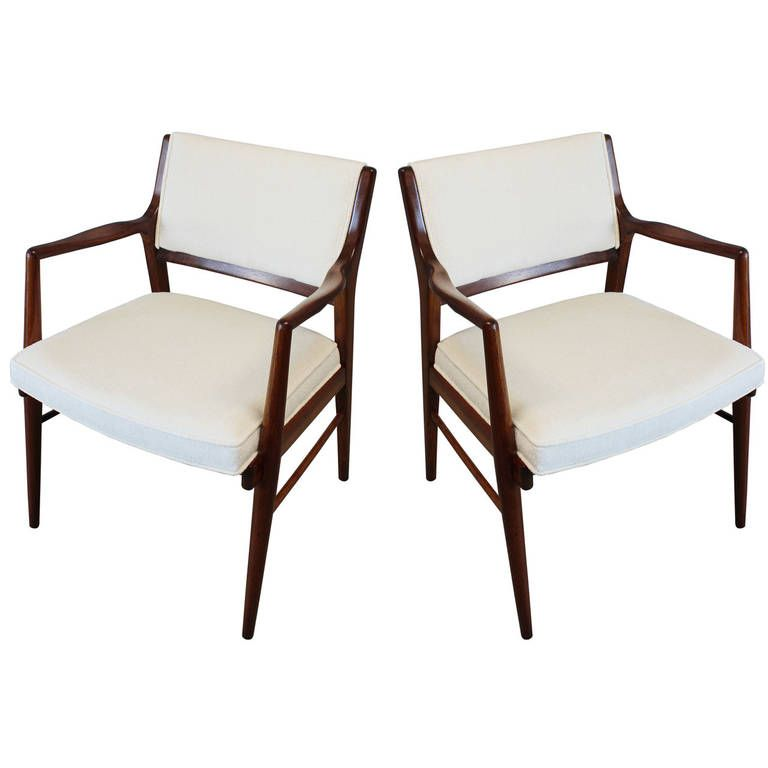 Pair of Jens Risom Armchairs   From a unique collection of antique and modern armchairs at https://www.1stdibs.com/furniture/seating/armchairs/