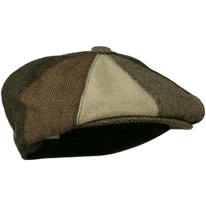 Men s Multi-tone Wool Apple Cap - Brown W16S52C - CX11C0N6OJD in ... 60aea93bc95