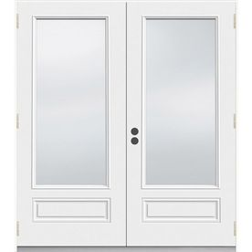 Lowes 852 34 Jeld Wen 5 Ft 11 1 2 In Low E 1 Lite Composite French Outswing Patio Door Cheap French Doors French Doors Patio Patio Doors
