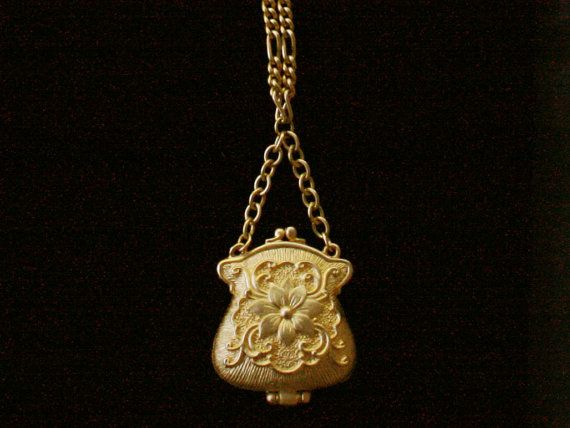Art Nouveau Locket Necklace on Etsy, $32.00