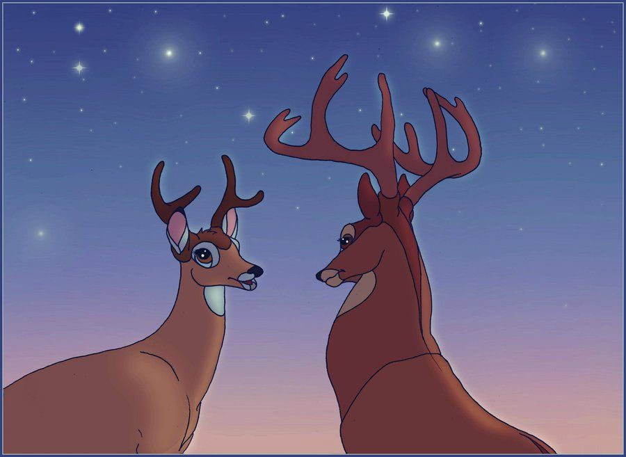 BAMBI & (his Father) THE GREAT PRINCE ~ Bambi's father