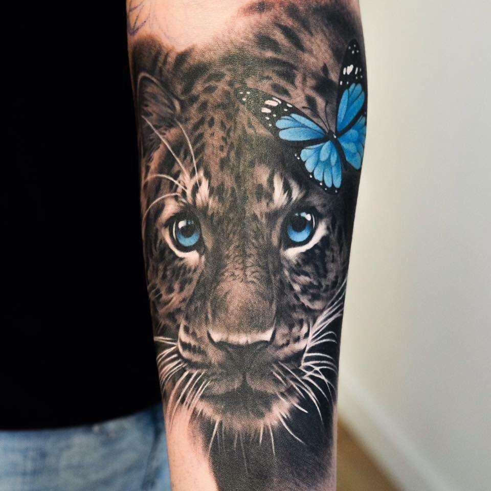 Photo of Leopard und Schmetterling Tattoo – Leopard und Schmetterling Tattoo – #butterfly #butt …