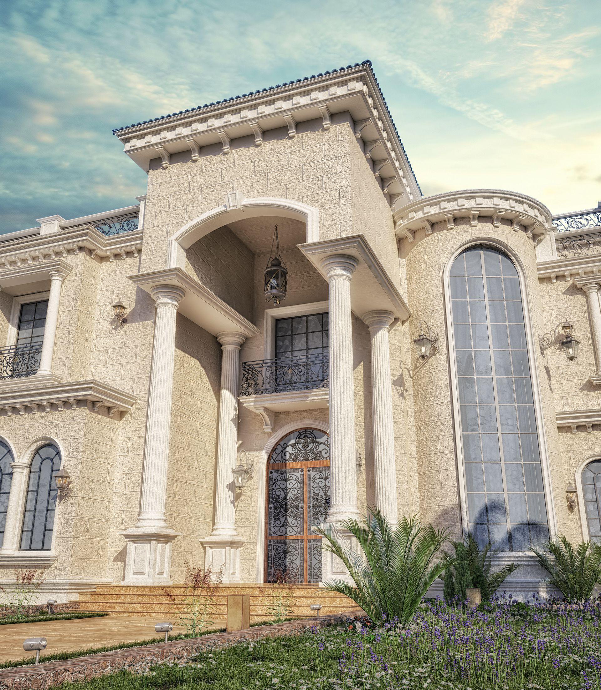 Luxury Mansion Interior Qatar On Behance: Private Villa Design At Doha-qatar On Behance