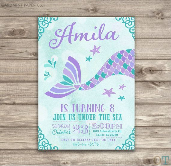 Image result for mermaid birthday invitations Birthday Itzela