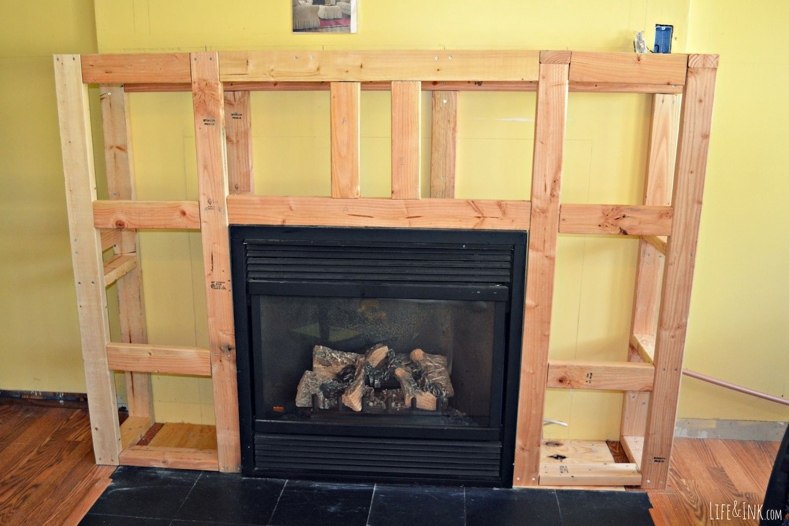 Framing Up a Fireplace | How To Frame A Fireplace Surround ...