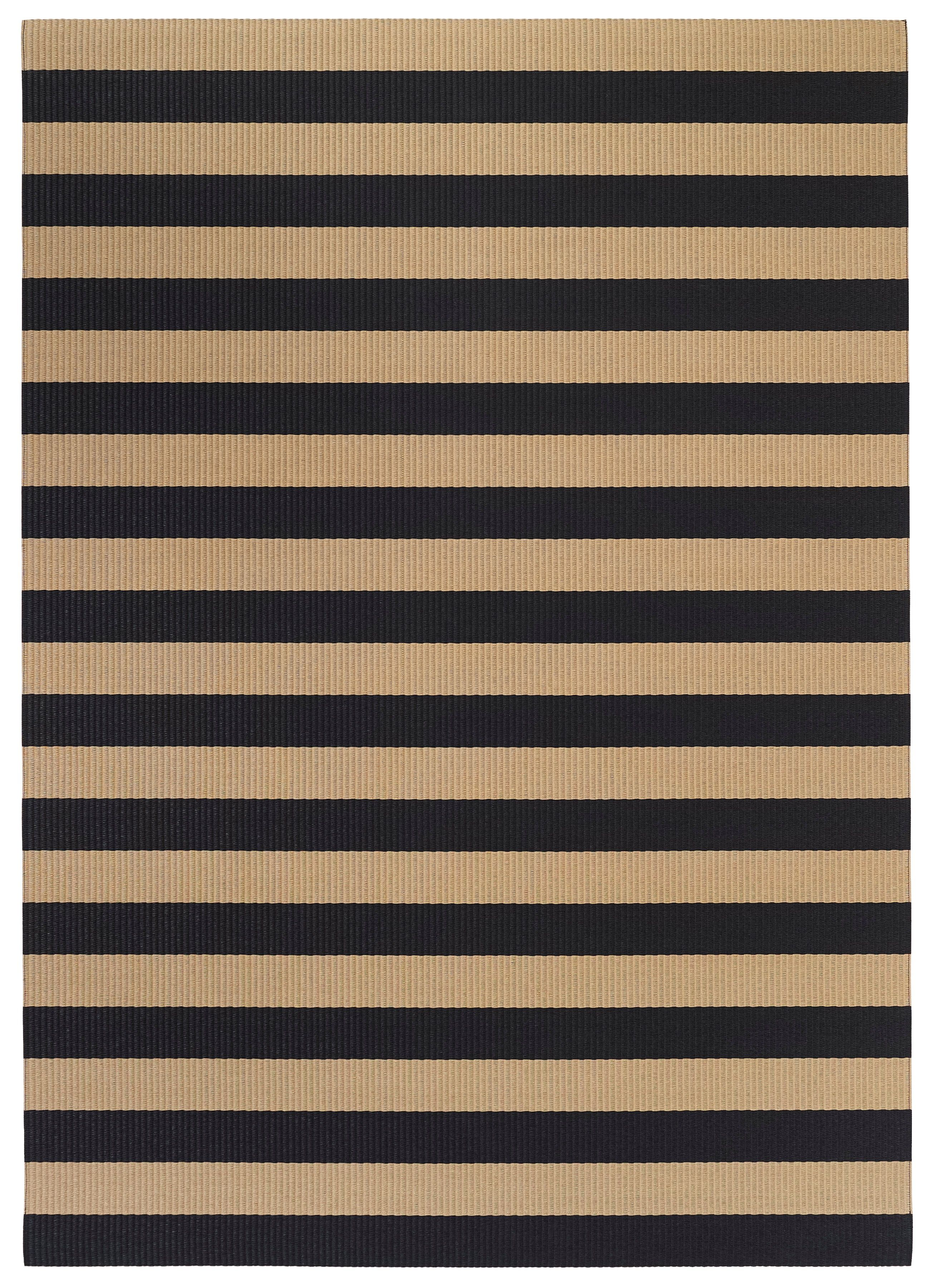Woodnotes Teppiche Woodnotes Big Stripe Paper Yarn Carpet Col Natural Black Natural
