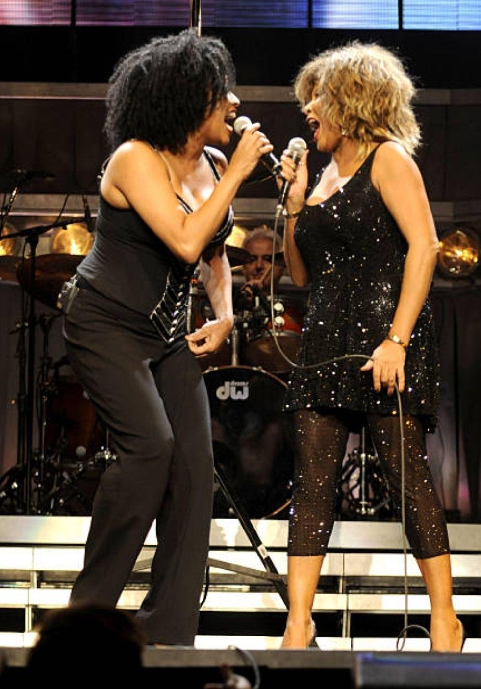 Tina Turner Tina Turner And Lisa Fisher At The 50th Tina Turner Lisa Fischer Tina