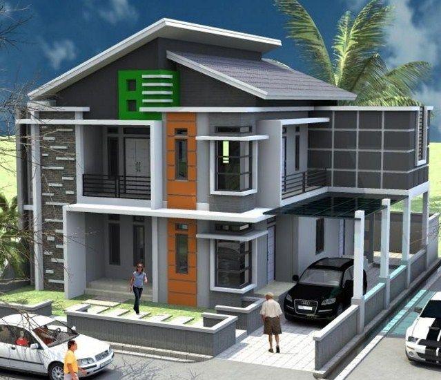 75 Contoh Desain Rumah Minimalis 2 Lantai Yang Nampak ...