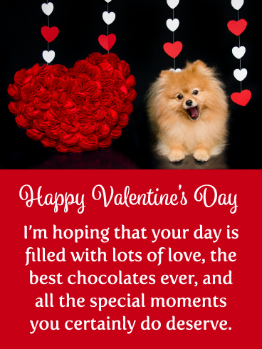 Smiling Puppy Happy Valentine S Day Card For Everyone Birthday Greeting Cards By Davia In 2020 Happy Valentines Day Photos Birthday Greeting Cards Happy Valentines Day Card