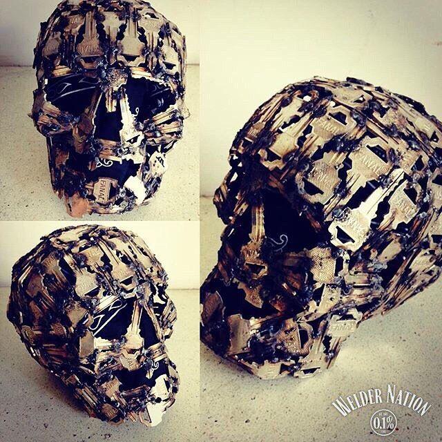 We love skulls..... First one made by keys we seen  PC: @zarateadri33  #WeldArt #WelderNation