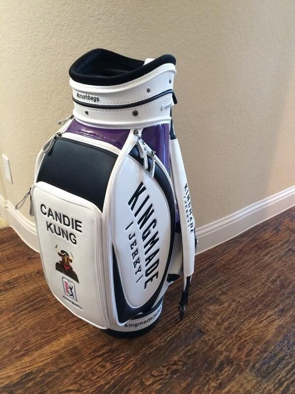 Pro golfer Candie Kung is sportin' this Vessel custom golf bag at her 2014 #