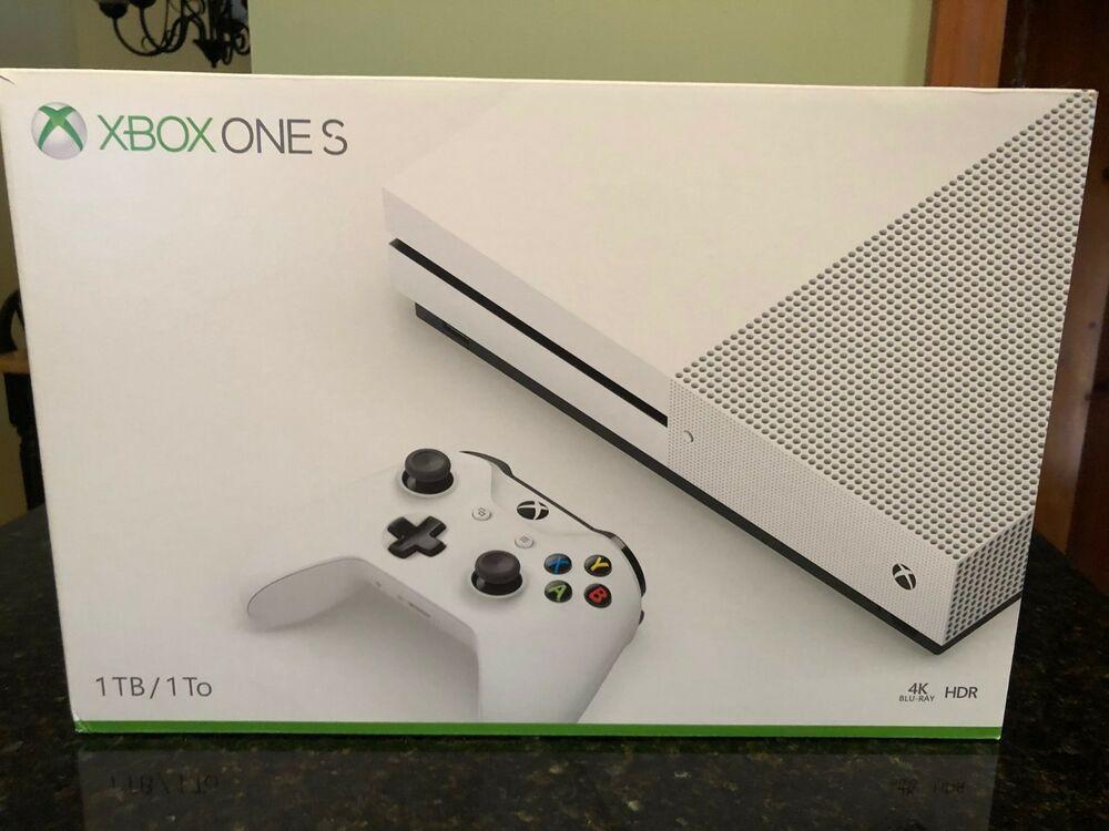 Microsoft Xbox One S 1tb White Gaming Console Model 1681 Xbox One S Xbox One S 1tb Gaming Console