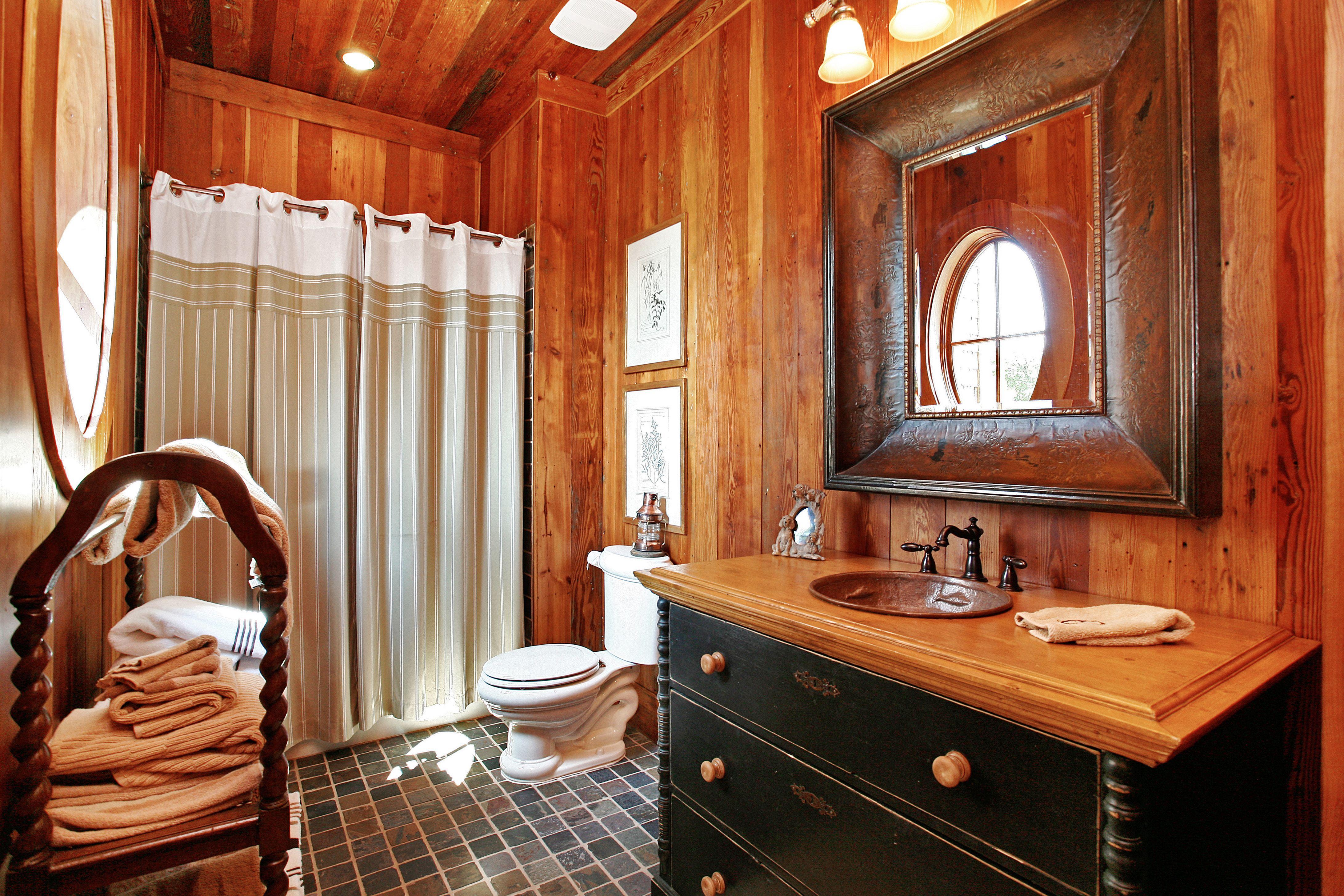 Western Style Bathroom With The Most Rustic Bathroom Vanities