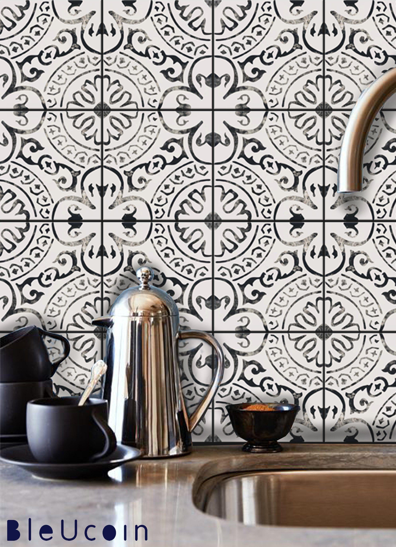 Amalfi Tile Wall Stair Floor Self Adhesive Vinyl Etsy Flooring For Stairs Wall Tiles Bathroom Backsplash