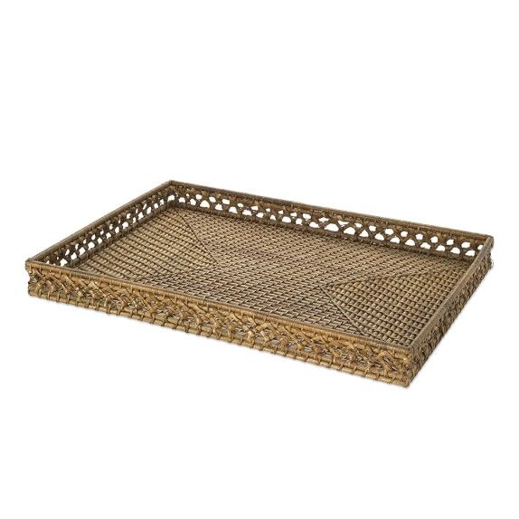 Knotted Tray, Rectangular, Light Honey | Rancho Cielo Accessories ...